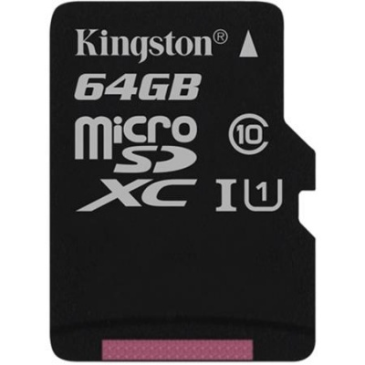 "Memóriakártya, microSDXC, 64GB, C10/U1, 80/10 MB/s, KINGSTON ""Canvas Select"""
